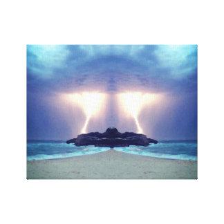 Lienzo Tempestad de truenos en las ilustraciones únicas