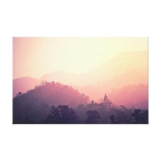 Lienzo Templo de la salida del sol de la fotografía el |