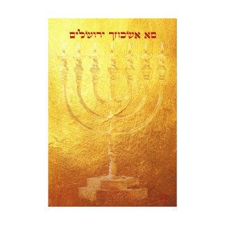 Lienzo Templo de oro Menorah si olvidé el thee Jerusalén