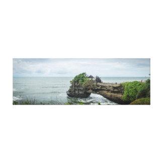 Lienzo Templo del mar de la porción de Tanah en Balli,