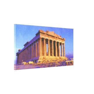Lienzo Templo del Parthenon de Athena