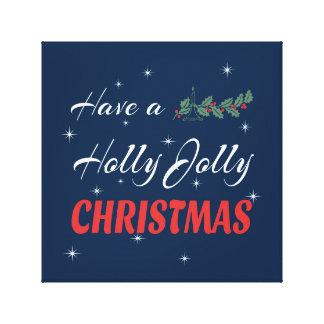 Lienzo Tenga navidad alegre de un acebo