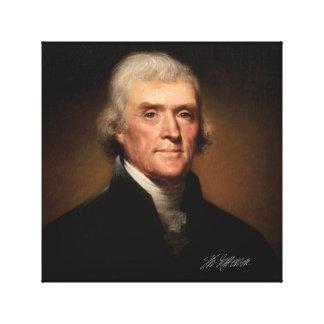 Lienzo Thomas Jefferson de Rembrandt Peale. Firma