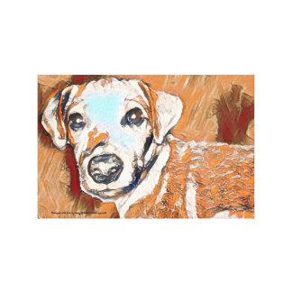 Lienzo Toda la pintura del terrier de Jack Russell del