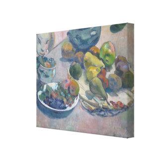 Lienzo Todavía vida con las frutas de Paul Gauguin