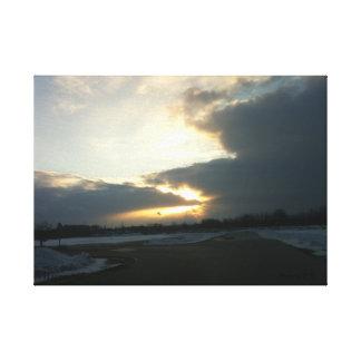 Lienzo Tormenta de la nieve de Wisconsin