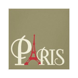 Lienzo Torre Eiffel icónica en París roja Francia