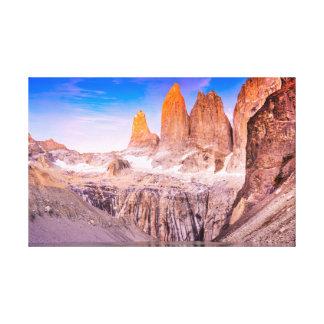 Lienzo Torres del paine Chile