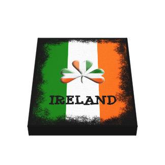 Lienzo Trébol temático apenado colores irlandeses de la