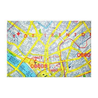 Lienzo TRENTON, mapa del vintage de NJ