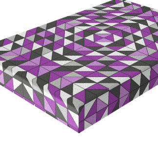 Lienzo Triángulos modelados púrpura