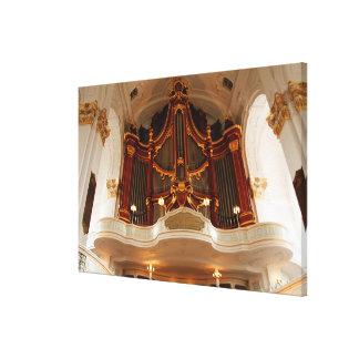 Lienzo Tubos de órgano de la iglesia