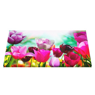 Lienzo Tulipán del Fling de la primavera floral