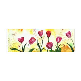 Lienzo Tulipanes