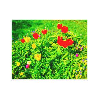 Lienzo Tulipanes del jardín de flores II