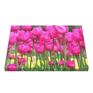 Lienzo Tulipanes rosados florales
