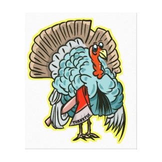 Lienzo Turquía con una acción de gracias divertida del