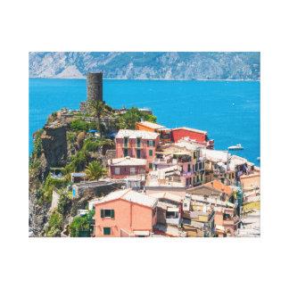 Lienzo Ubicación del destino de Cinque Terre Italia