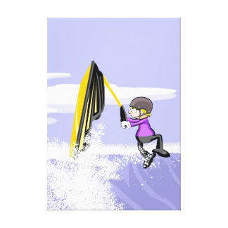 Lienzo Un gran salto agarrado del brazo de su jet ski