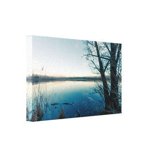 Lienzo Un lago del invierno