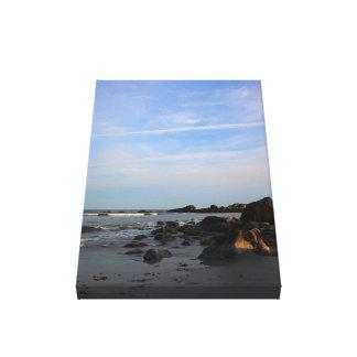 Lienzo Una tarde en la playa del halcón