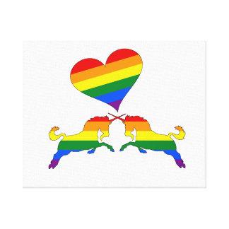 Lienzo Unicornios del arco iris