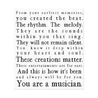 Lienzo Usted es músico