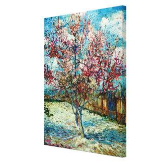 Lienzo Van Gogh - árbol de melocotón rosado