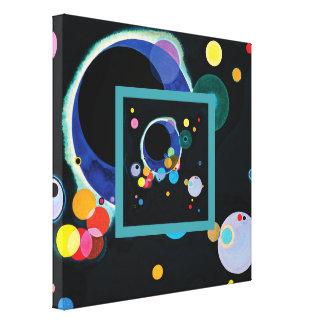 Lienzo Varios círculos de Wassily Kandinsky