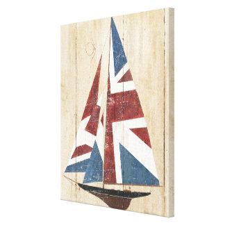 Lienzo Velero británico de la bandera