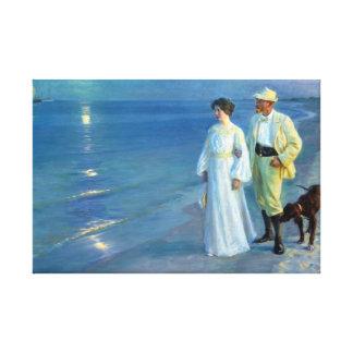 Lienzo Verano de Peder Severin Krøyer que iguala la playa
