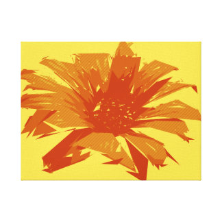 Lienzo Verano floral abstracto Duotone