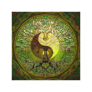 Lienzo Verde de Yin Yang