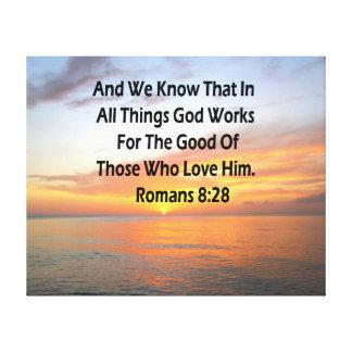 LIENZO VERSO IMPONENTE DE LA ESCRITURA DEL 8:28 DE LOS