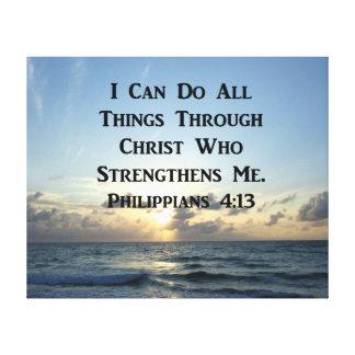 LIENZO VERSO INSPIRADOR DE LA BIBLIA DEL 4:13 DE LOS