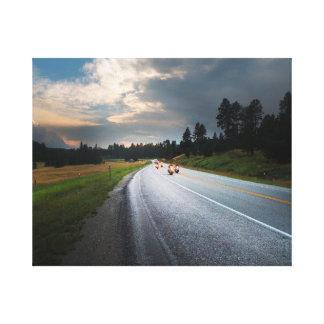 Lienzo Vida para montar - las motocicletas en el camino