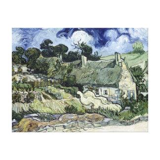 Lienzo Vincent van Gogh cubrió con paja la cabaña en