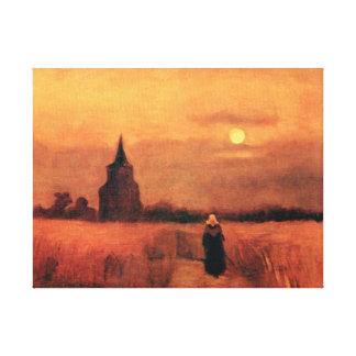 Lienzo Vincent van Gogh - la torre vieja en los campos