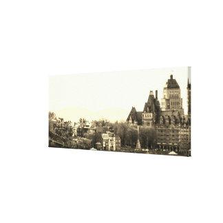 Lienzo Vintage la ciudad de Quebec