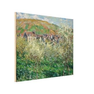 Lienzo Vintage Monet 1879 árboles de ciruelo florecientes