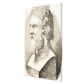 Lienzo Vintage Platón el ilustracion del filósofo