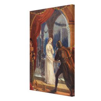 Lienzo Vintage Romeo y pintura de Juliet (1861)