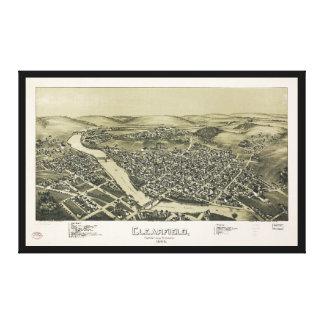 Lienzo Vista aérea de Clearfield, Pennsylvania (1895)