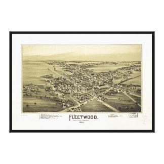 Lienzo Vista aérea de Fleetwood, Pennsylvania (1893)