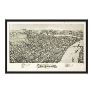 Lienzo Vista aérea de Parkersburg, Virginia Occidental