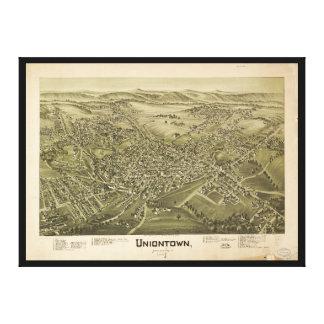 Lienzo Vista aérea de Uniontown, Pennsylvania (1897)