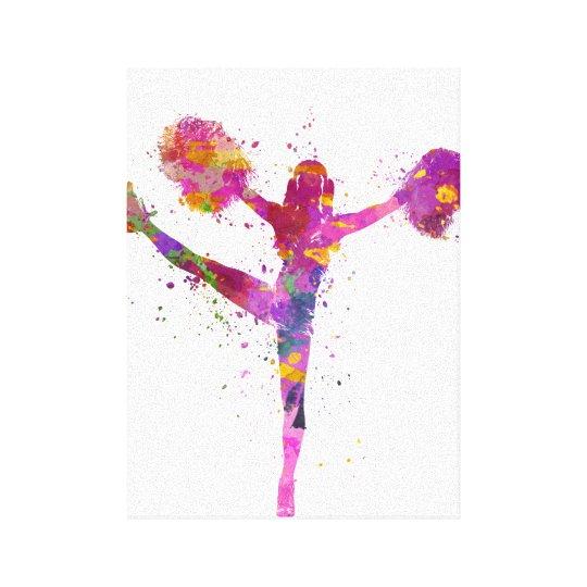 Lienzo young woman cheerleader 04