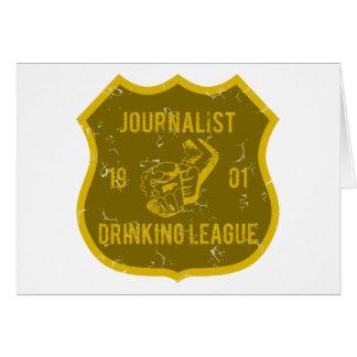 Liga de consumición del periodista tarjeta de felicitación