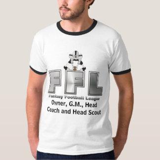 Liga de fútbol de la fantasía camisetas