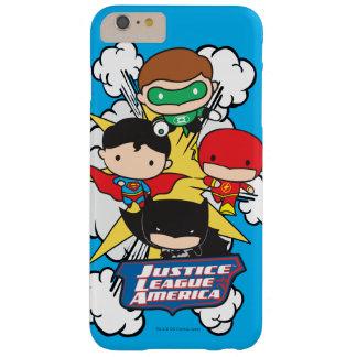 Liga de justicia de Chibi de la explosión de Funda Barely There iPhone 6 Plus